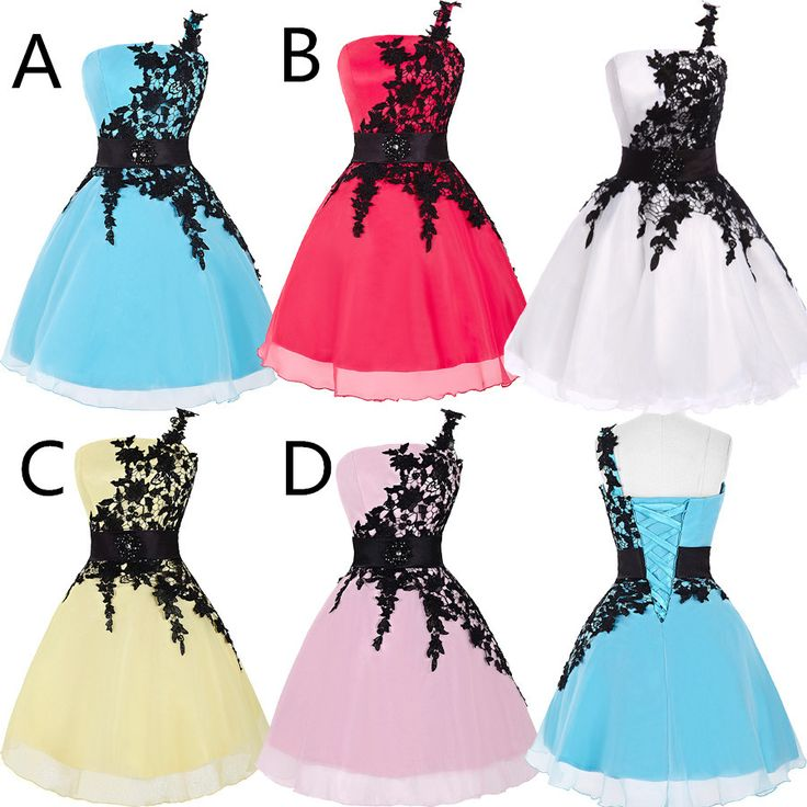 Elegant Short Ball Gown Lace Prom Dresses,Lace Homecoming Dresses On Sale - Thumbnail 4