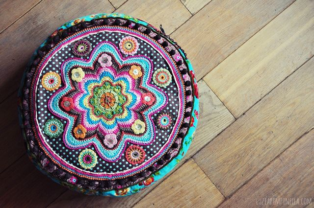 luzia pimpinella BLOG | DIY | genähtes und gehäkeltes BANJU kissen | sewed and crocheted BANJU pillow
