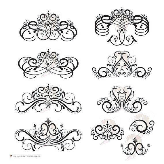 Digital Stamp Design Flourish Rose Border Corner Clip Art: 35 Best Images About Chandeliers On Pinterest
