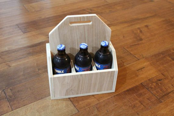Beer Caddy. Wooden Beer Caddy. Personalized by DavisHomeDecorStore