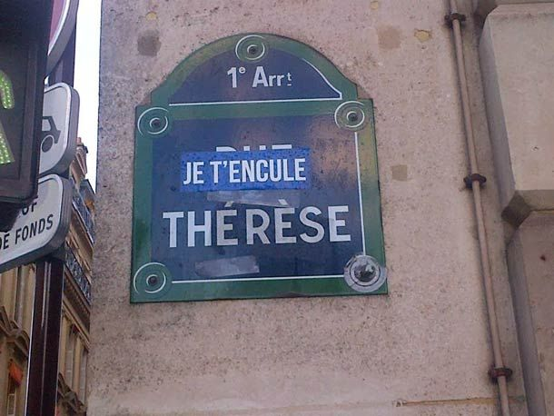 Je t'encule Therese