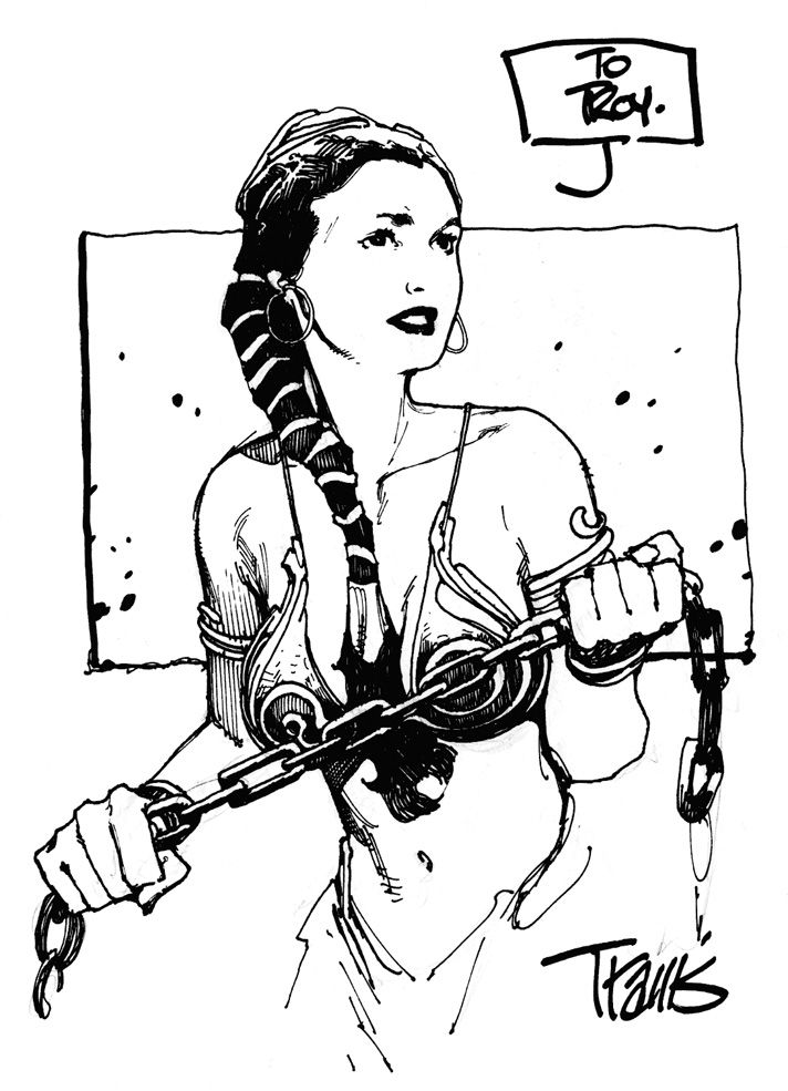 Travis Charest - Princess Leai (Star Wars)  More Travis Charest  @ http://groups.yahoo.com/group/ComicsStrips & http://groups.google.com/group/ComicsStrips   http://travischarestspacegirl.blogspot.com  http://www.travischarestgallery.com