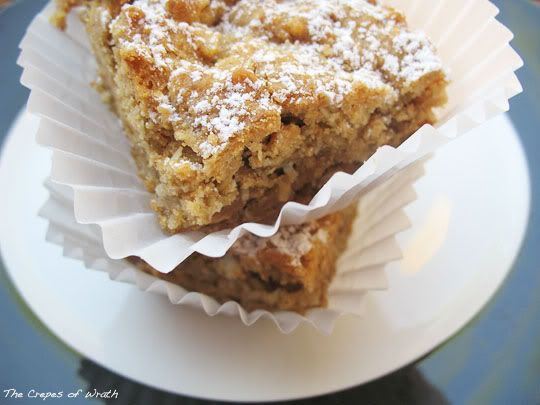 Peanut butter oatmeal bars - snack or breakfast!