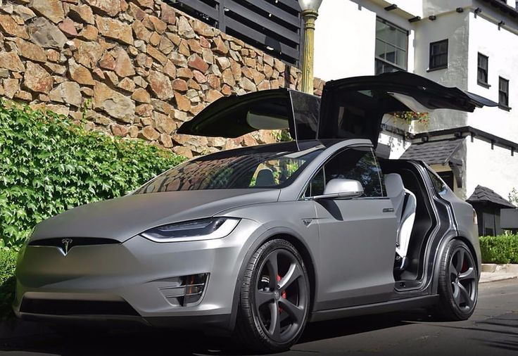 Tesla Model X Matte gray- ludicrous speed go!