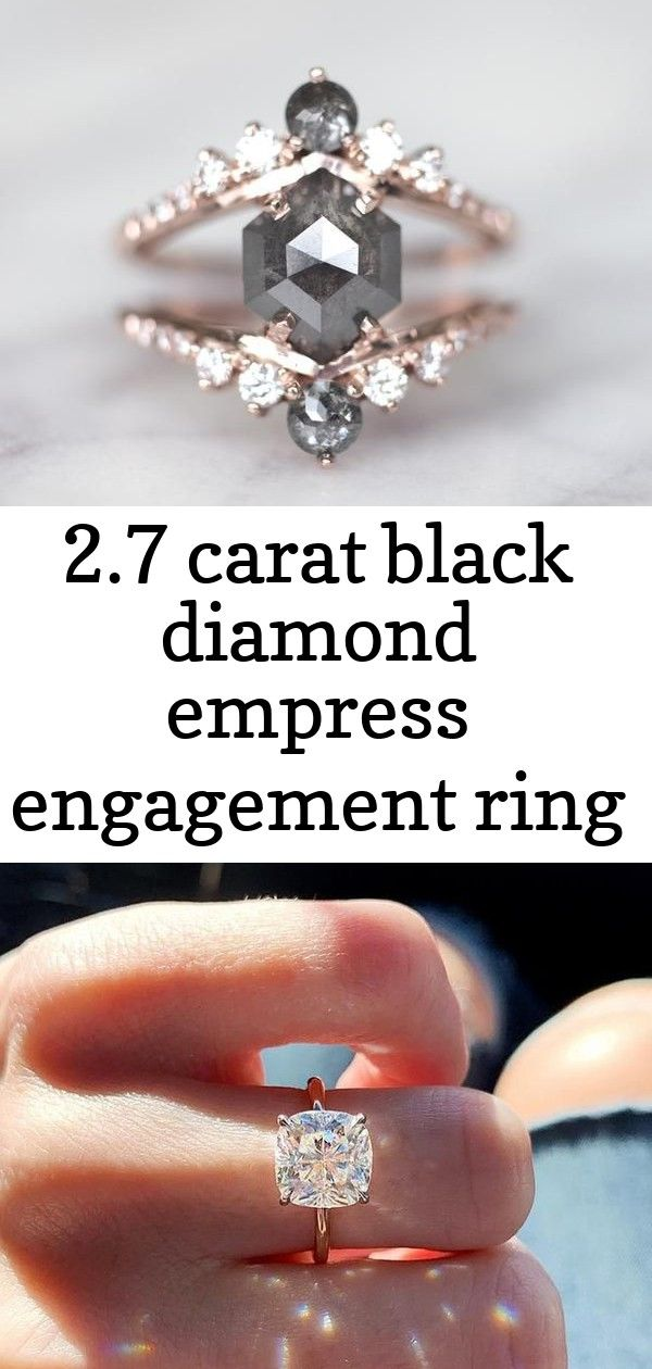 2 7 Carat Black Diamond Empress Engagement Ring Top Engagement Ring Ideas Solitaire Eng Rose Gold Diamond Ring Engagement Engagement Rings Top Engagement Rings