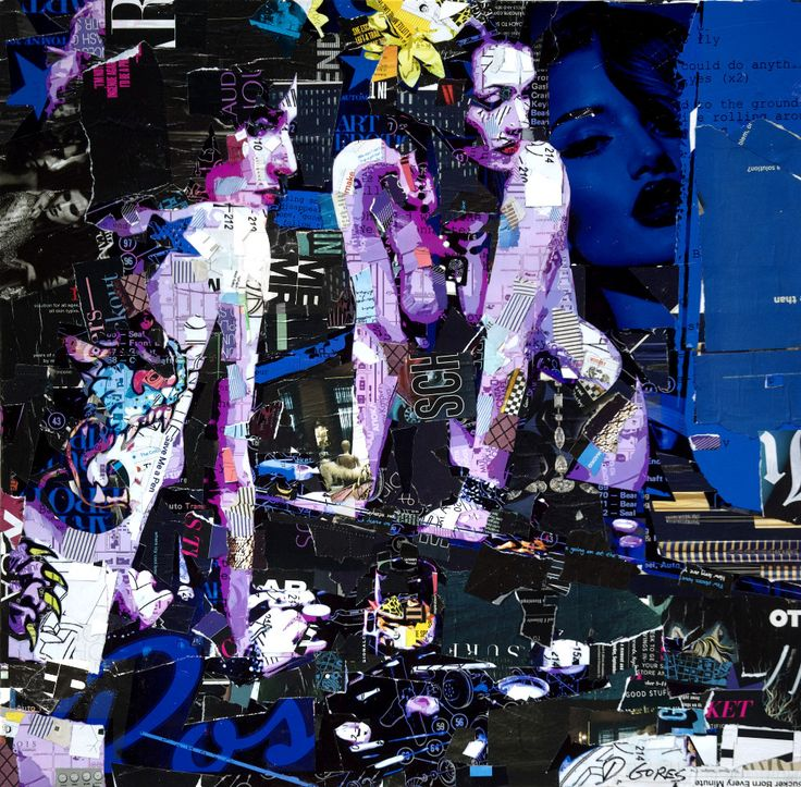 """""""Could Do Anything"""" (Collage on canvas)   Artist: Derek Gores"""