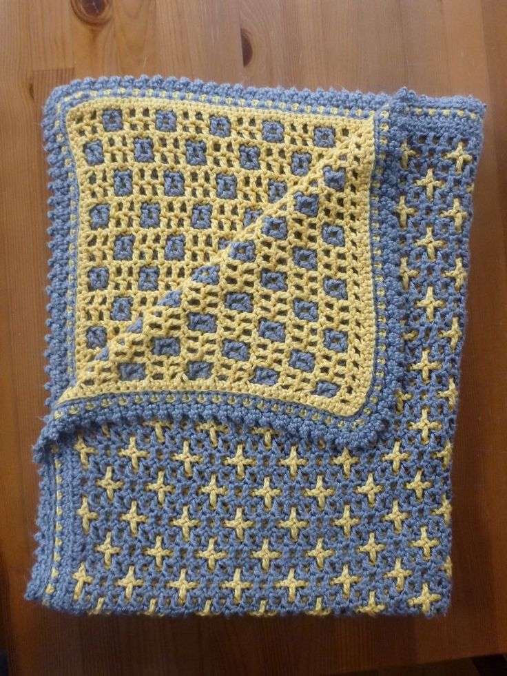 Interlocking Crochet, squares/crosses  ༺✿ƬⱤღ✿༻