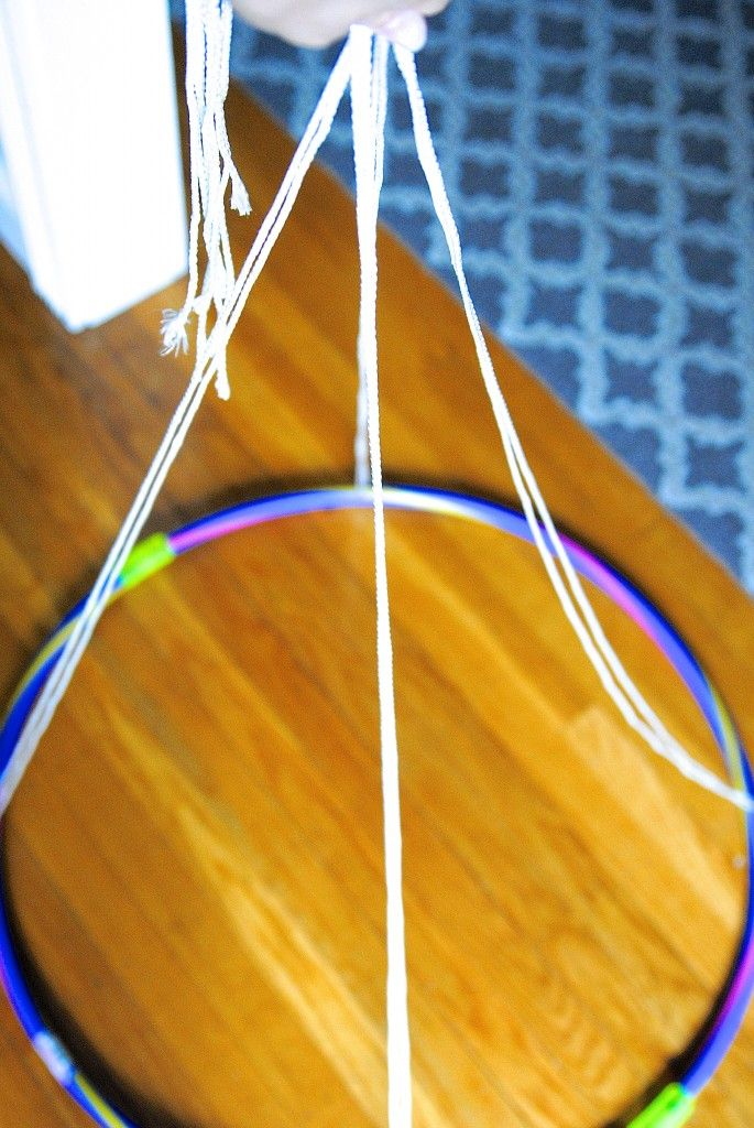 """""""Give me two shower curtains, a hula hoop, and a drill!"""" I yelled, channeling my inner MacGyver. But under an hour later, we had a DIY Kids' Canopy Play Tent and my kids went bananas! This isn't some"""