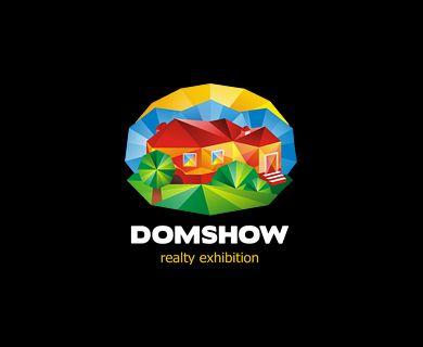 """""""Domshow"""" - логотип для выставки загородной недвижимости. Дизайнер - Ольга Шу. #логотип #выставка #дом #коттедж #шоу #expo #exhibition #house #cottage #building #строительство #кубизм #cubism #show #logo #лого #дизайн #design #logodesign #logotype #tailroom #inspiration"""