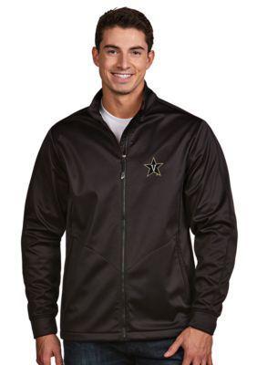 Antigua Black Vanderbilt Mens Golf Jacket