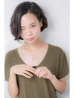 ユーフォリア(Euphoria SHIBUYA GRANDE) 【Euphoria】首ラインの綺麗な大人ショートボブ☆