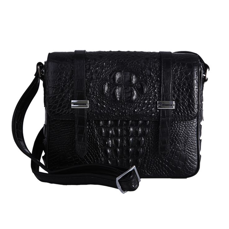 Butterfly Fish High Quality Crocodile Genuine Leather Handbag Laptop Cross Body Shoulder Bag For Male