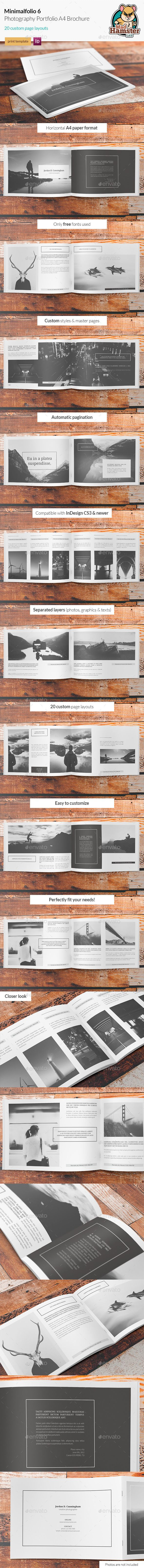 Minimalfolio 6 Photography Portfolio A4 Brochure Template InDesign INDD #design Download: http://graphicriver.net/item/minimalfolio-6-photography-portfolio-a4-brochure/13177981?ref=ksioks