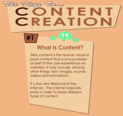 #1 The Keys To Content Creation - What is Content? Visit Website SEO Chick FB page at http://www.facebook.com/websiteseochick