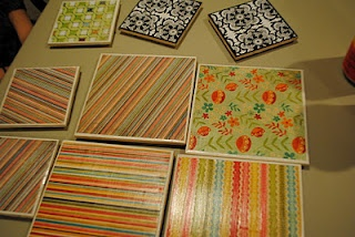 DIY coasters and trivets. So cute! I really want to do this.