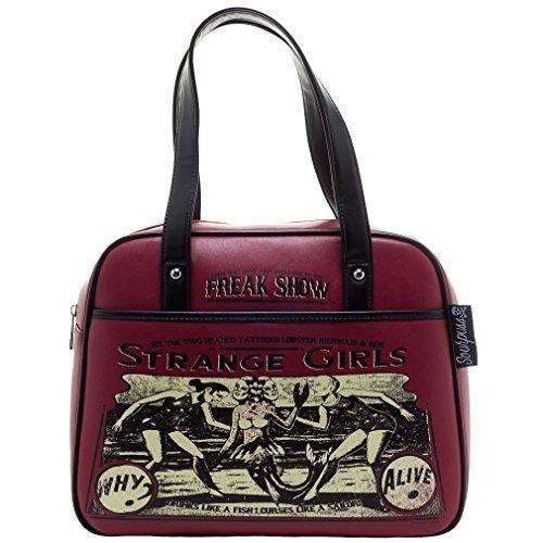 Oferta: 54.9€. Comprar Ofertas de Sourpuss - Bolso estilo bolera para mujer Rojo rojo burdeos talla única barato. ¡Mira las ofertas!