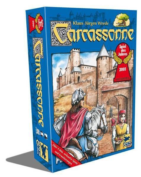 Résumé de Carcassonne: Un jeu de placement qui est dans le top des ventes un peu partout dans le monde. Il a remporté le prestigieux prix de l'année 2001 en Allemagne.