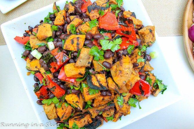 6 Ingredient Grilled Sweet Potato & Black Bean Salad + $250 ALDI Gift Card Giveaway!