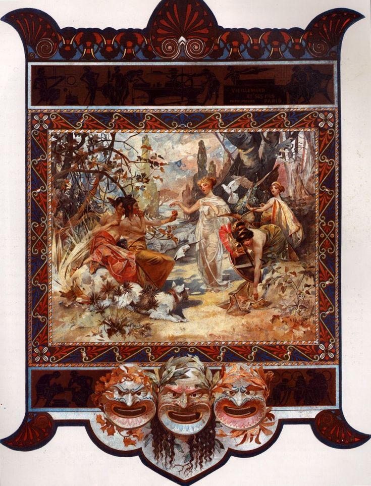 Heidsieck, 1901 by Alphonse Mucha. Art Nouveau (Modern). advertisement. Private Collection