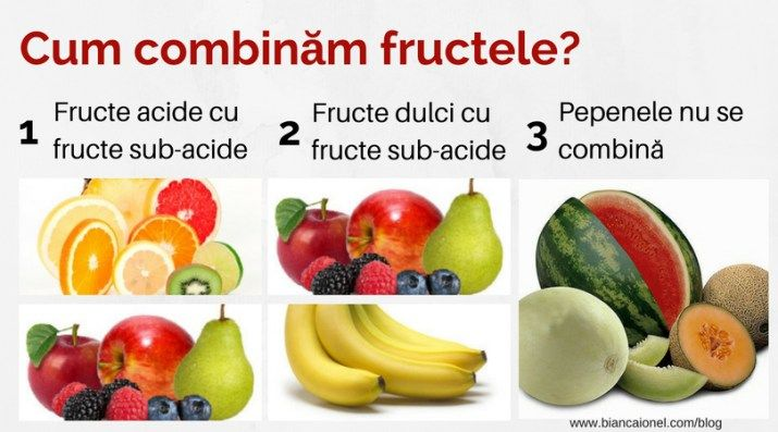 Cum combinam fructele?