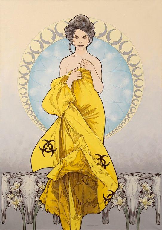 """Saatchi Art Artist: Doris Tesárková Oplová; Acrylic 2013 Painting """"Shepherdess"""""""