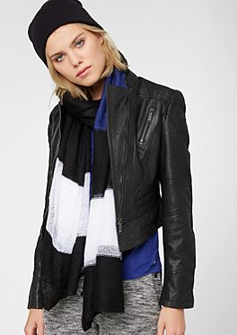 Taillierte Lederjacke im s.Oliver Online Shop