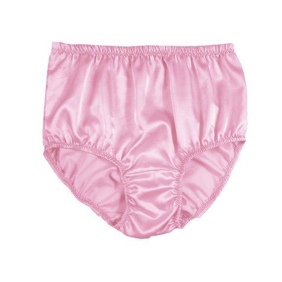 New Luxury Satin Silk Sissy Knickers Underwear Bikini Tanga Panties Size 8-14