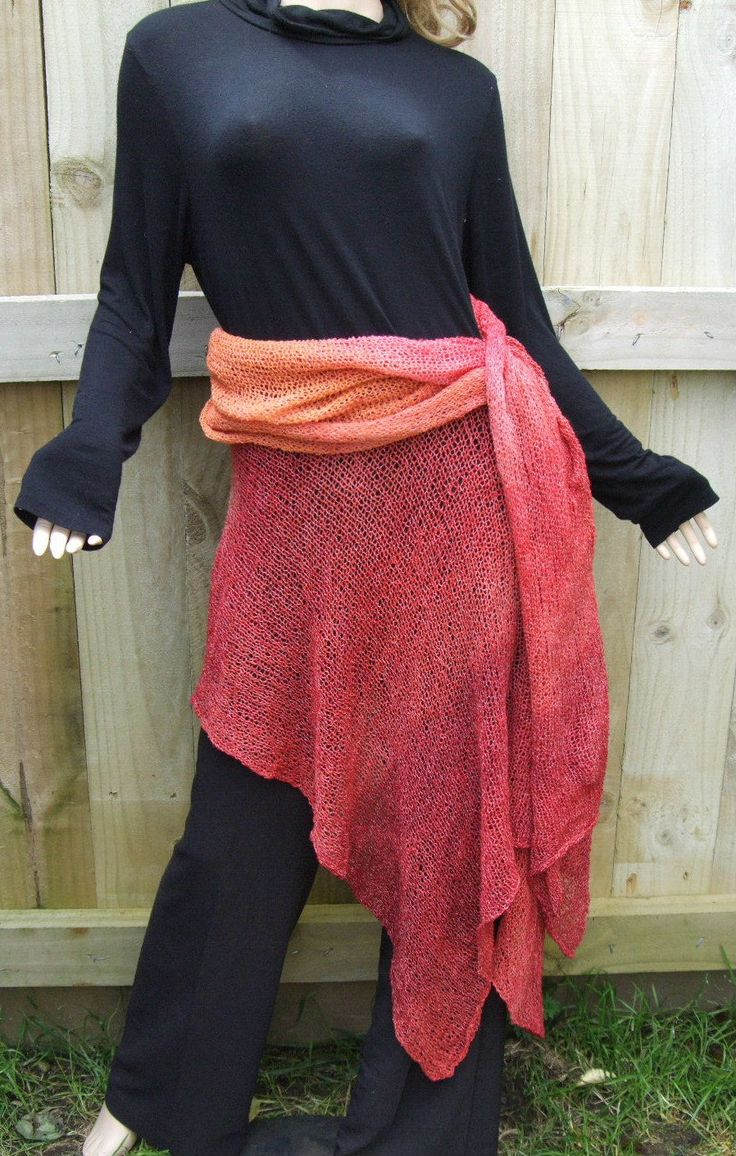 Folded and draped skirt