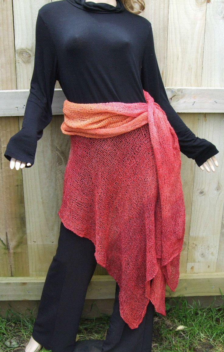 Folded and draped skirt