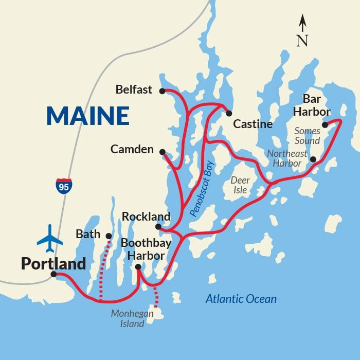 Northeast Harbor Maine Map.Cruise The Maine Coast And Harbors New England Cruises Also Check