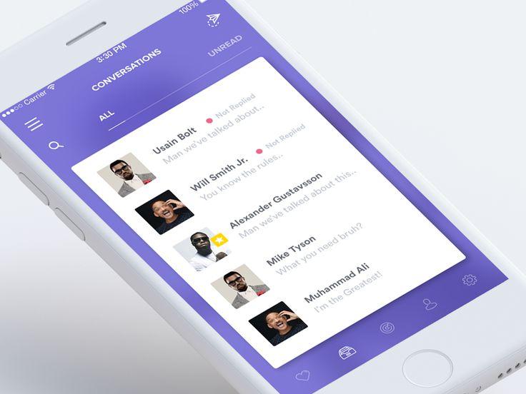 Messages / Conversation (Rise App) by Zeki #Design Popular #Dribbble #shots
