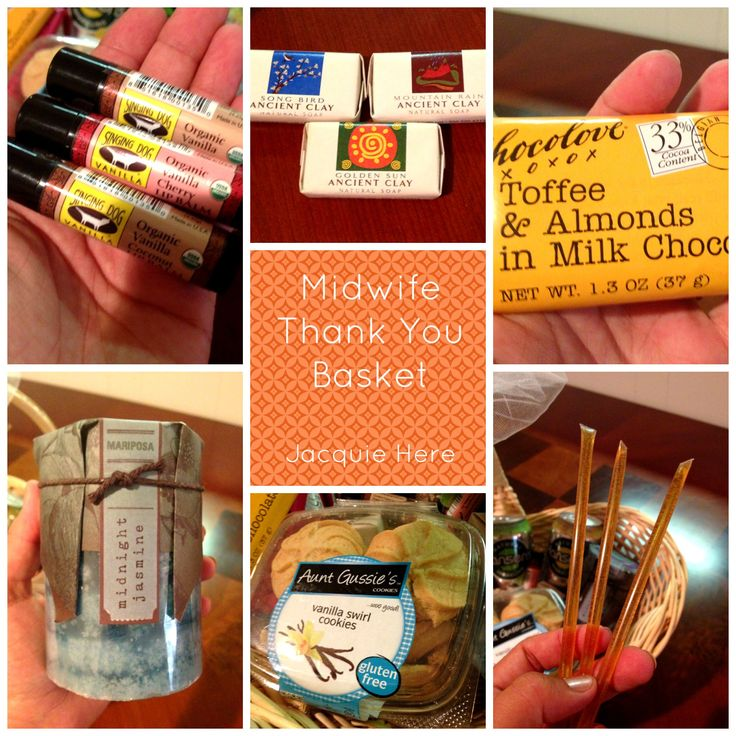 DIY Midwife Thank You Basket to bring to the birth.