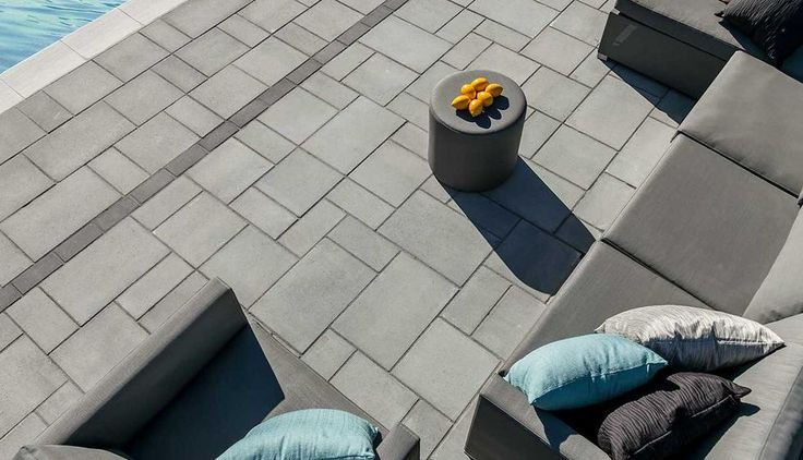 Pathway Stone Techo Bloc Blu 60 Mm Slate Grey