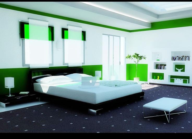 Feng-Shui Bedroom Example | Modern bedroom design, Green ...