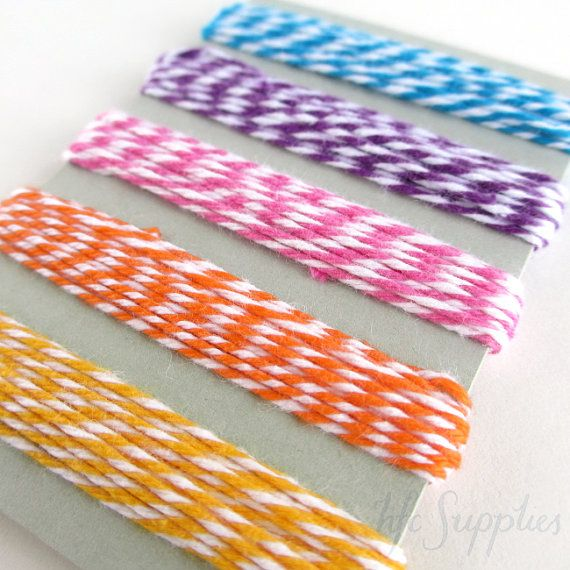 10 metres Baker's Twine in 5 bright colours