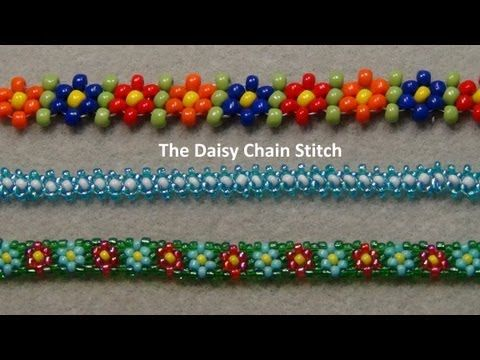 Friend me and show me what you make on facebook: https://www.facebook.com/aleshia.beadifulnights#!/aleshia.beadifulnights  There are several different variations of the daisy chain this is my favorite because it has the flowers with leaves in between them. This stitch can be used in necklaces, bracelets and rings.   Materials needed: For a brace...