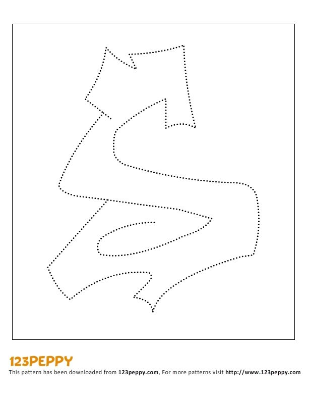 Printable How to Draw Pattern - Graffiti Letter S