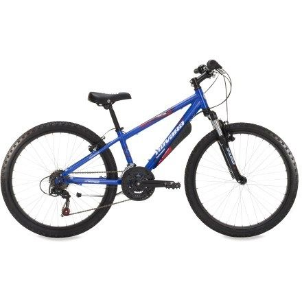 """Novara Tractor 24"""" Bike. Isaac loves to zoom around on campsites, cities and offroad trails with us on this."""
