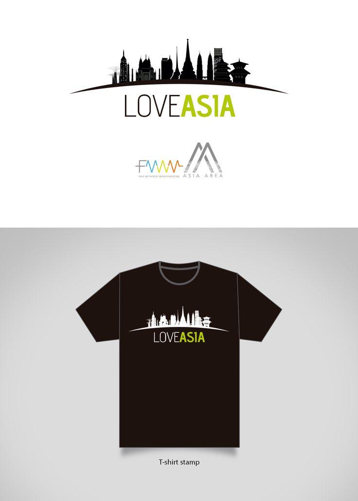 Logo and T-shirt ˝Love Asia˝ - FMWM :: designed by Sandra H. V.