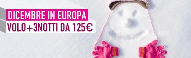 Si dice neve venerdì, e noi vogliamo essere sicuri di sommergervi prima..Di offerte ;) Guardate qua quelle per Dicembre in #Europa, Volo+3Notti da 125€!  www.it.lastminute.com
