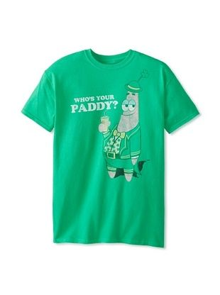 46% OFF Spongebob Men's Who's Your Paddy Crew Neck Tee (Rush Green)