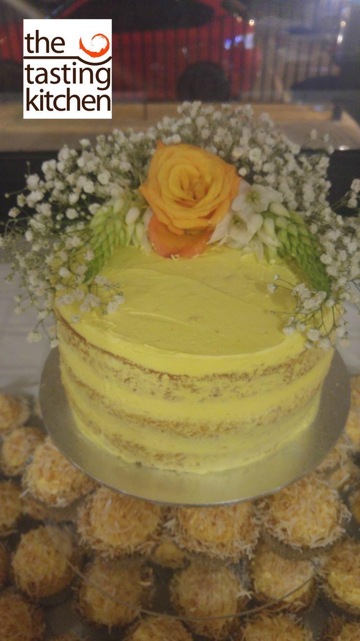 Pina Colada Cake, Birthday Cake, Fresh Flowers