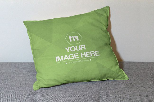 Pillow Design Mockup Generator - Mediamodifier - Online mockup generator