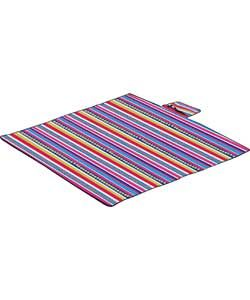Striped Camping Picnic Blanket.