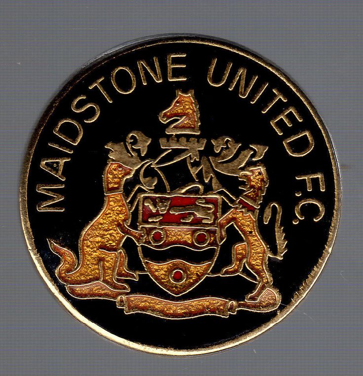 Rare Vintage Enamel Maidstone United Pin Badge