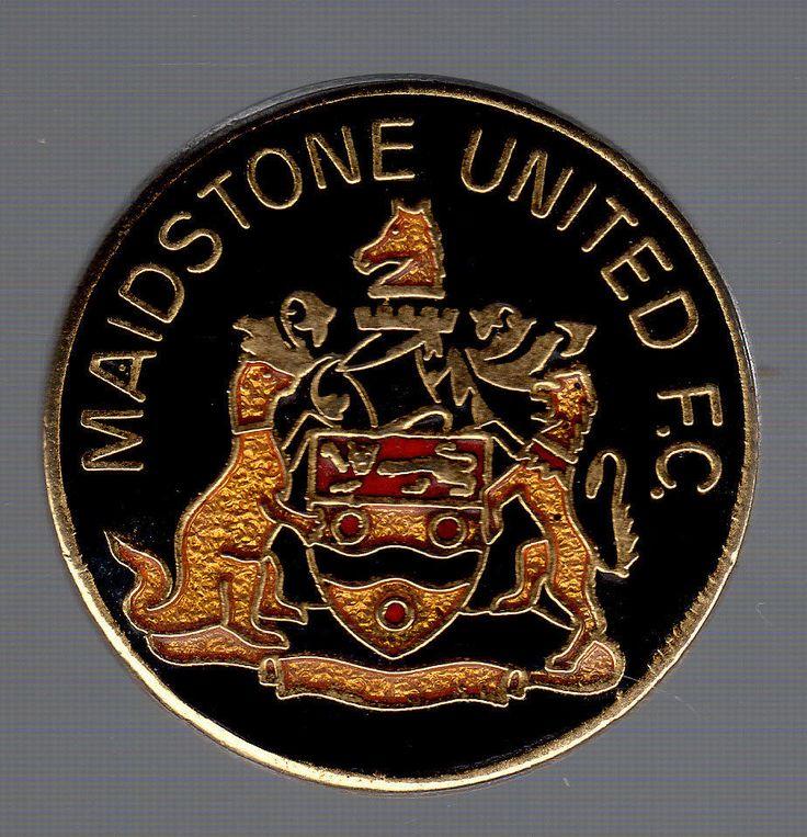 Rare Vintage Enamel Maidstone United Pin Badge