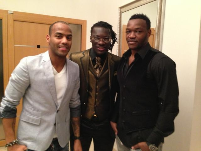 Jimmy Briand, Bafé Gomis et Steve Mandanda le soir du réveillon ;-)