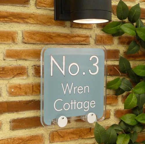 House Number Address Signs. Simple. Monochrome. Knockout. (And designed by you). Who says house signs have to be naff? http://www.de-signage.com/rx226-house-number-address-signs.php