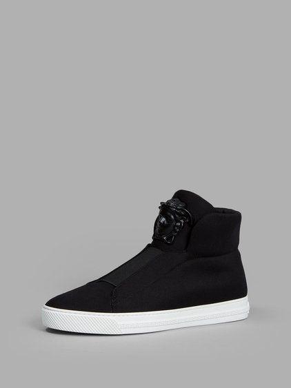 VERSACE Versace Men'S Black High Top Sneakers. #versace #shoes #sneakers
