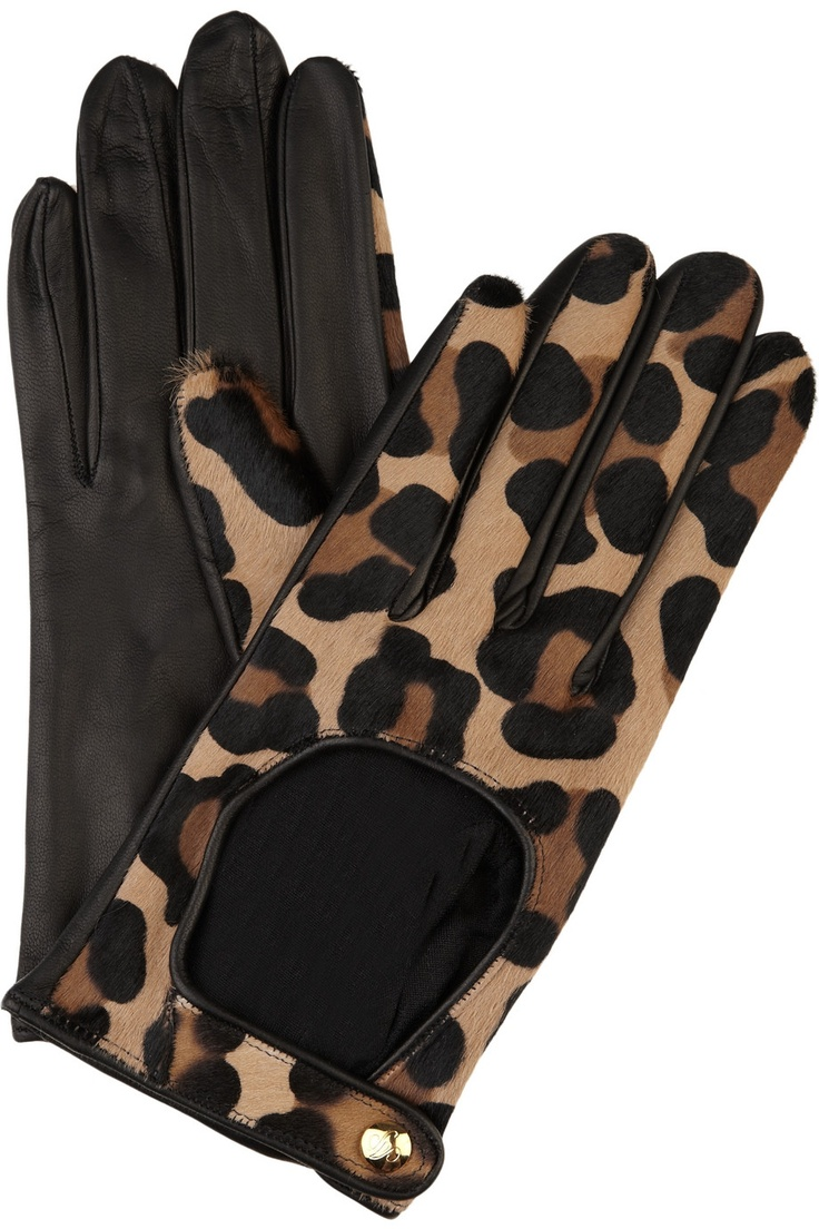 Motorcycle gloves victoria bc - Agent Provocateur Leopard Calf Hair Driving Gloves Yes Please